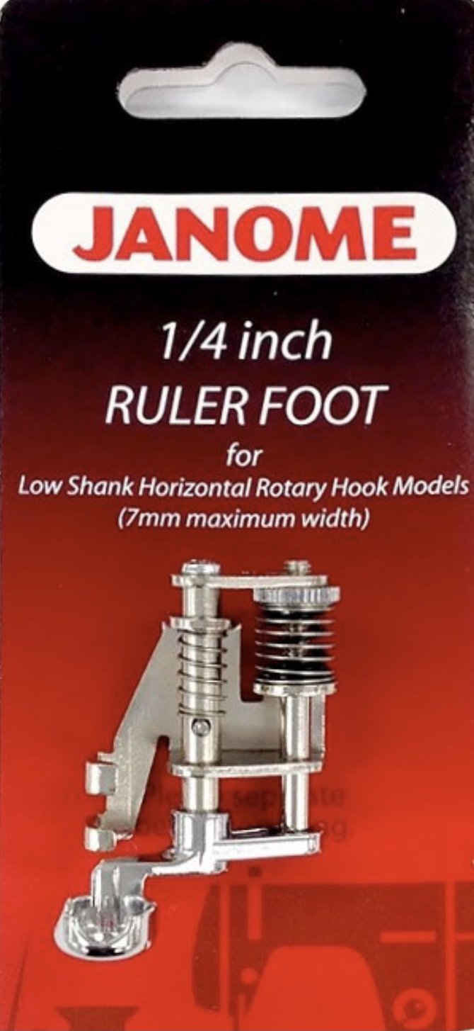 Janome Ruler Work Foot 1/4 Low Shank for 7mm Machines