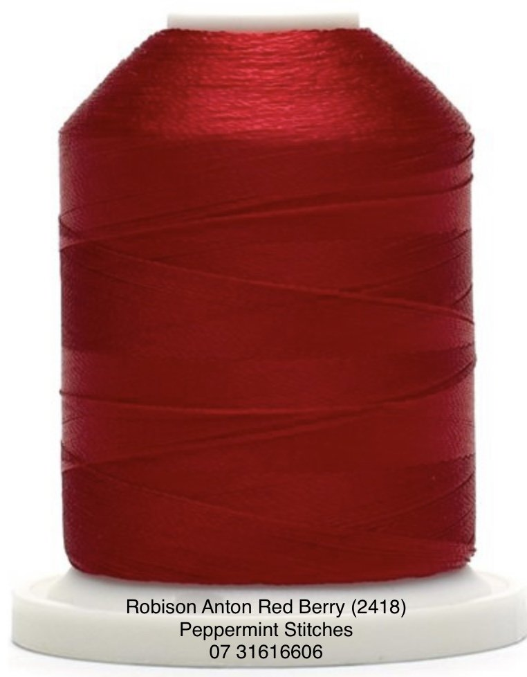Robison Anton Red Berry (2418) Rayon Machine Embroidery Thread