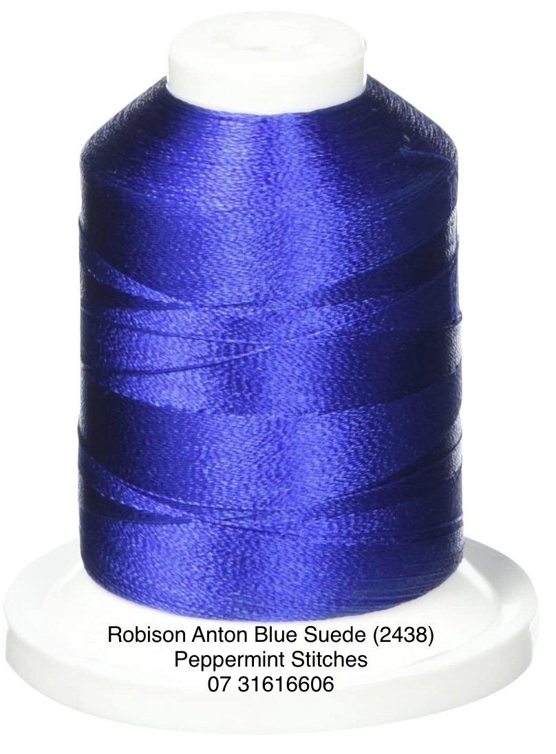 Robison Anton BLUE SUEDE (2438) Rayon Machine Embroidery Thread 40wt 1000m