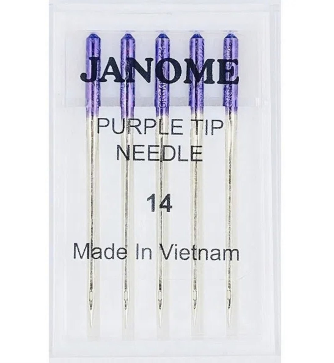Janome Needles Purple Tip- Size14 pkt of 5