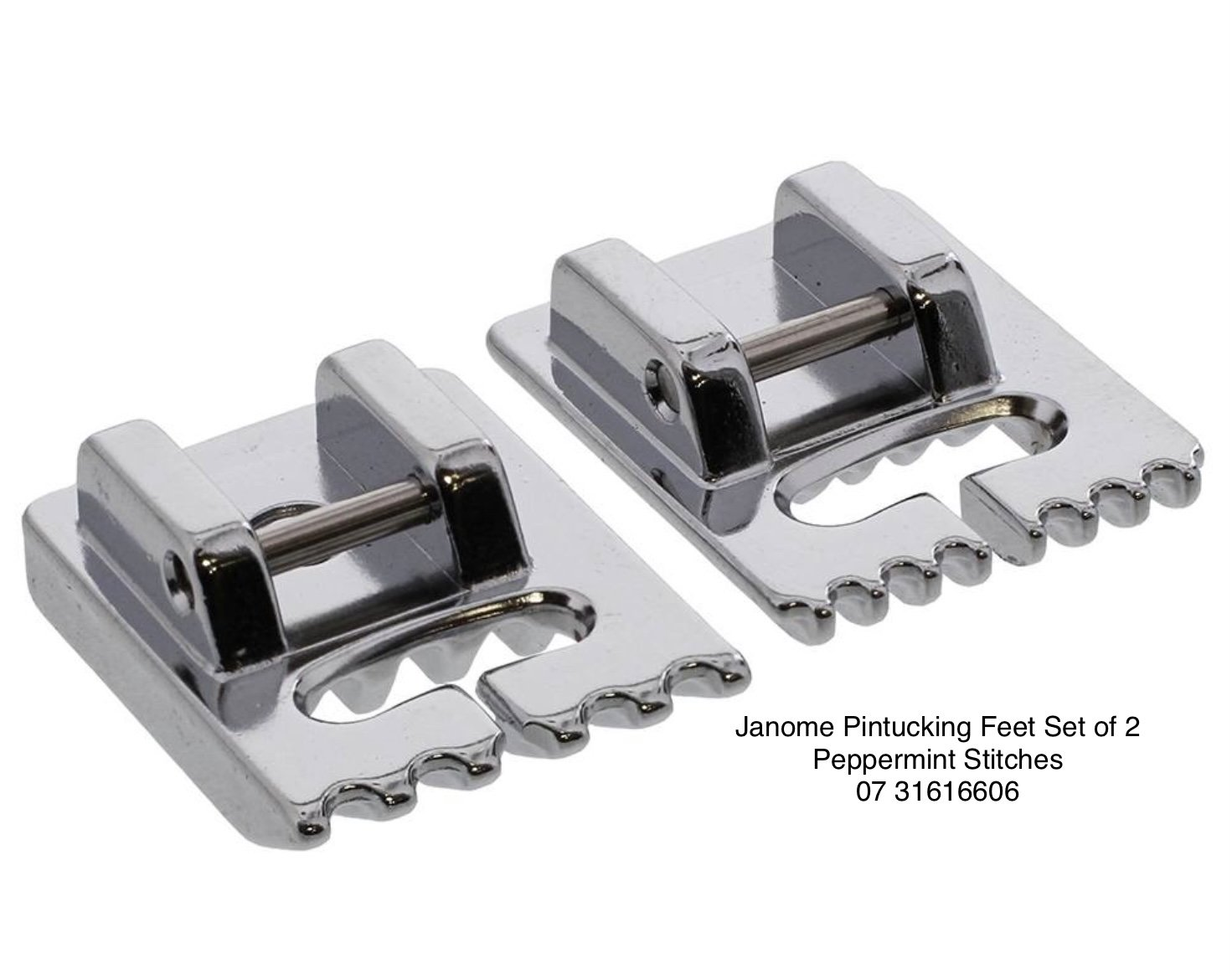 Janome Pintuck Feet Set of 2 5 & 7 Groove - 7mm Top Loading Machine