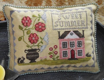 $14.00 - Sweet Summer Cross Stitch Pattern by Abbey Rose Designs - 129w x 99h Stitches