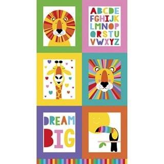 $15.00/Panel- Safari Alphabet Panel by Creative Monsoon for Devenstone Collection - DV501 - Panel 60cm