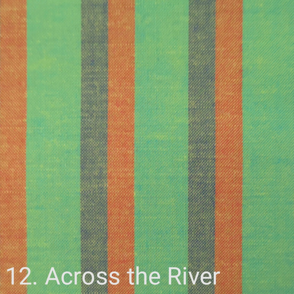 $24.00/m - Wanderer Woven Stripes by Indie Fabric Studio for A Day in the Country - Across the River