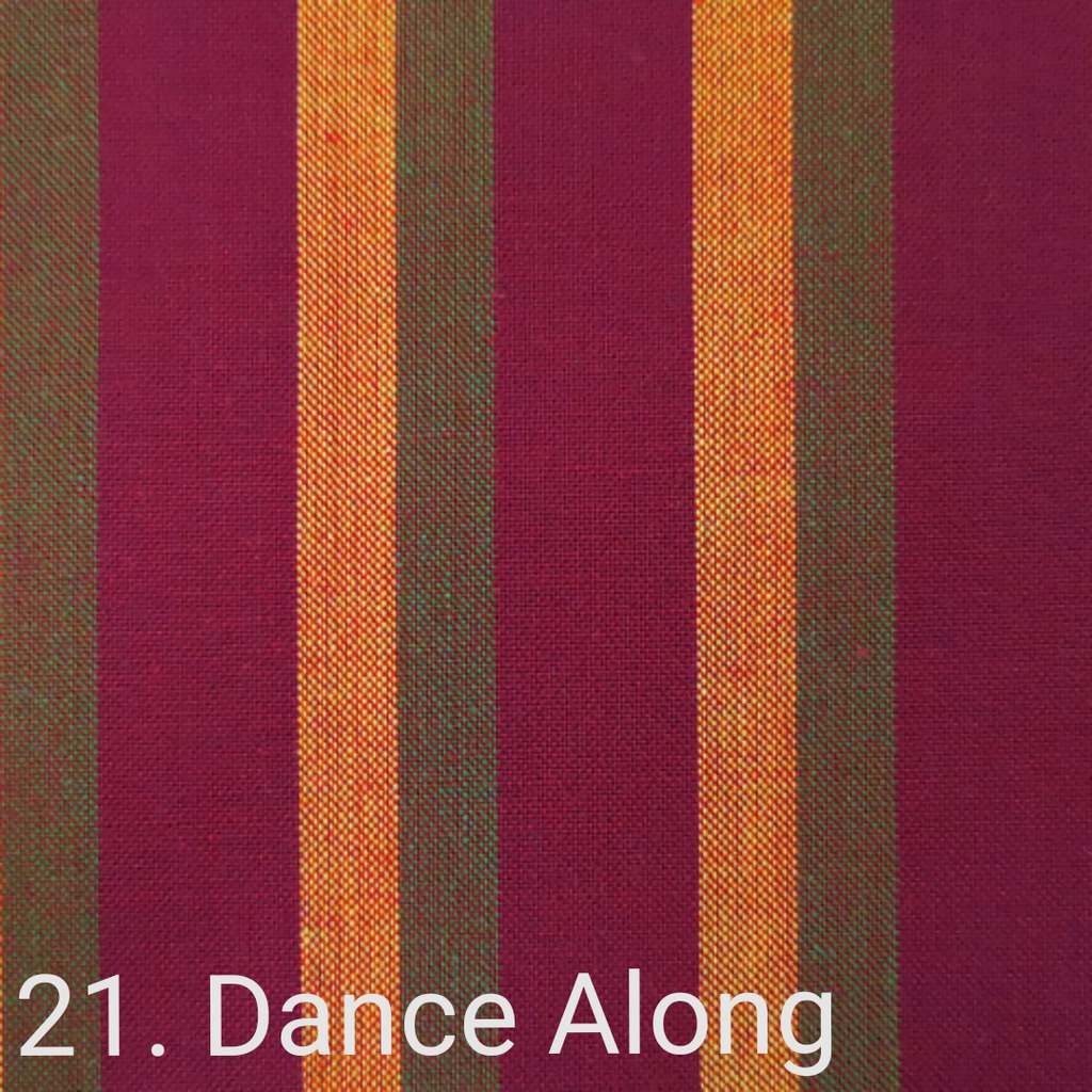$24.00/m - Wanderer Woven Stripes by Indie Fabric Studio for A Day in the Country - Dance Along