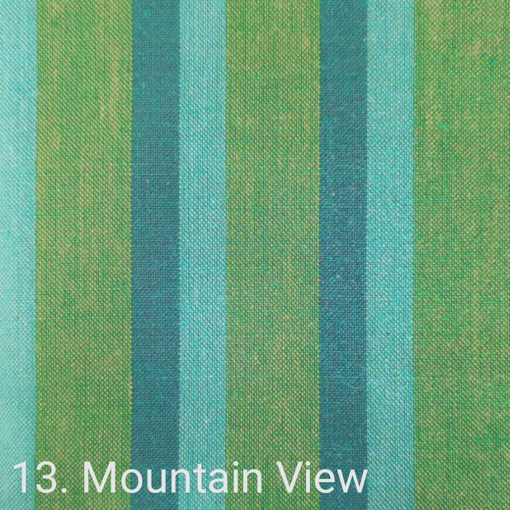 $24.00/m - Wanderer Woven Stripes by Indie Fabric Studio for A Day in the Country - Mountain View