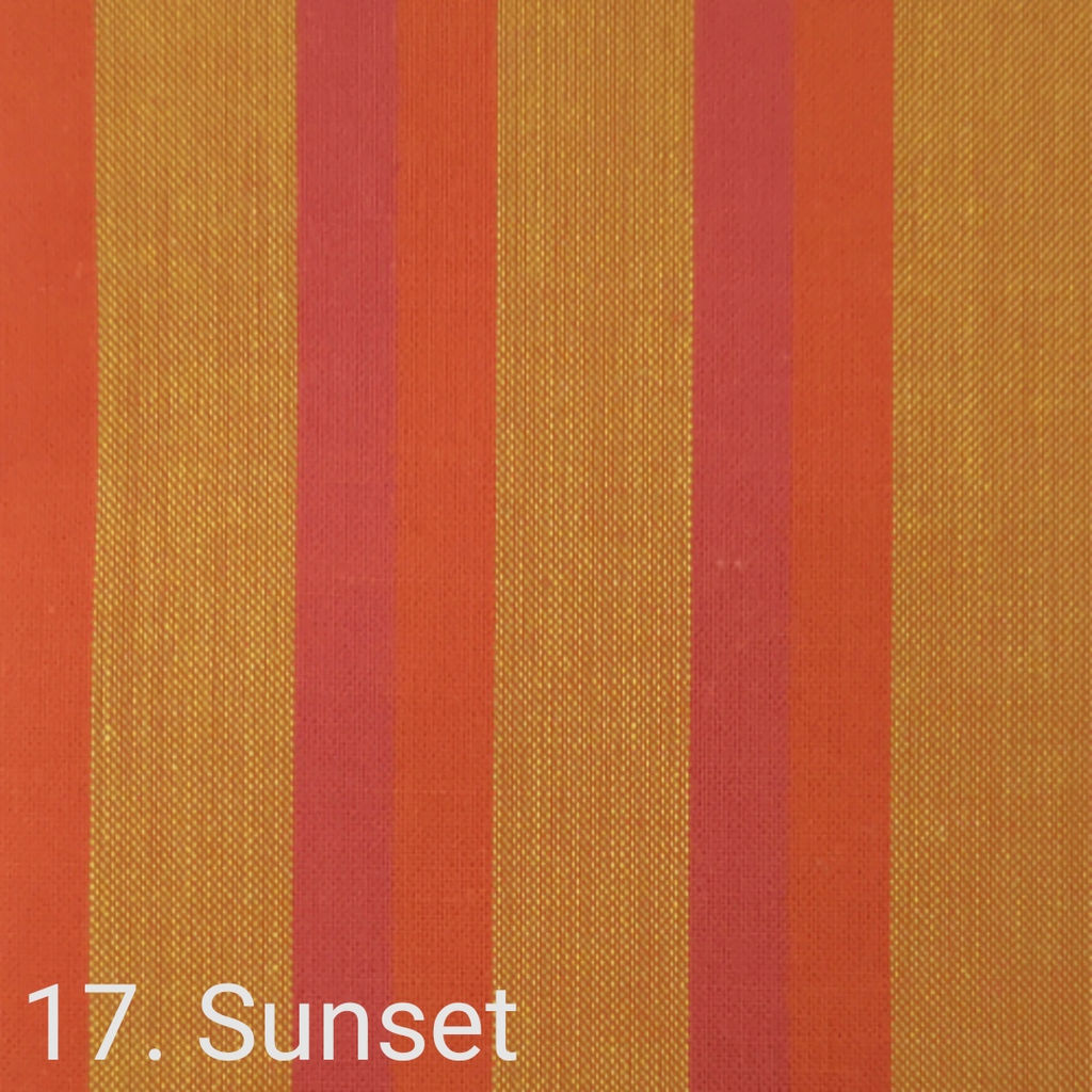 $24.00/m - Wanderer Woven Stripes by Indie Fabric Studio for A Day in the Country - Sunset Traveller