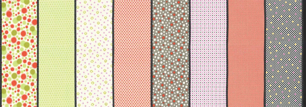 $26.00/m - Fine And Sunny by Jen Kingwell for Moda Fabrics - 18178-12 - Lollies in Persimmon