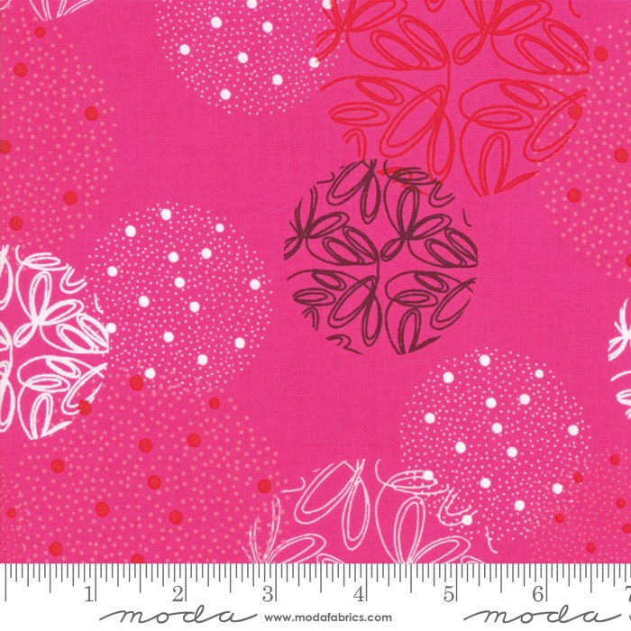 $27.00/m - Just Red by Zen Chic for Moda Fabrics - 1700-18 - Spheres in Hot Pink