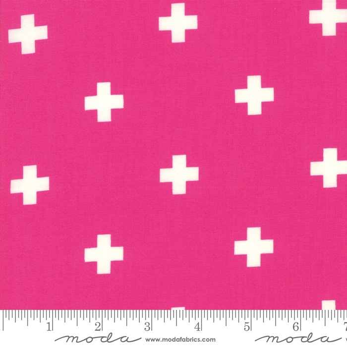 $27.00/m - Just Red by Zen Chic for Moda Fabrics - 1702-18 - Plus in Hot Pink