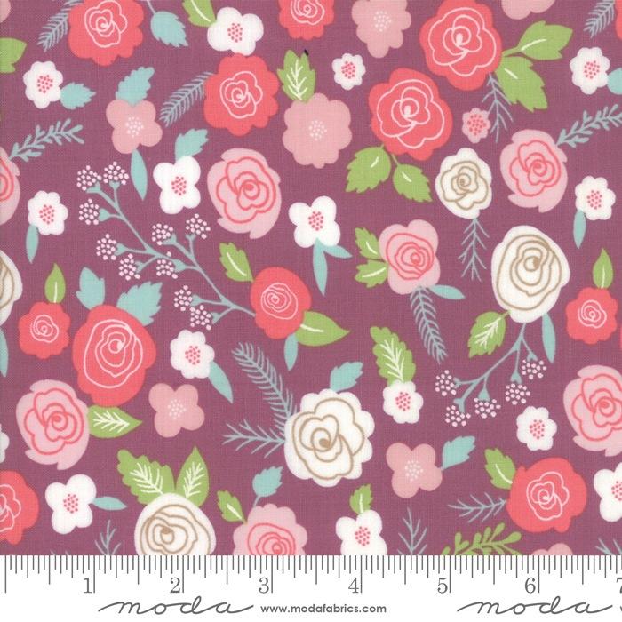 $27.00/m - Lollipop Garden by Lella Boutique for Moda Fabrics - 5080-14 - Springtime Blooms in Orchid/Purple