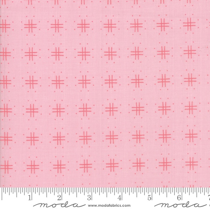 $27.00/m - Lollipop Garden by Lella Boutique for Moda Fabrics - 5083-12 - Tic Tac Toe in Pinkberry/Pink