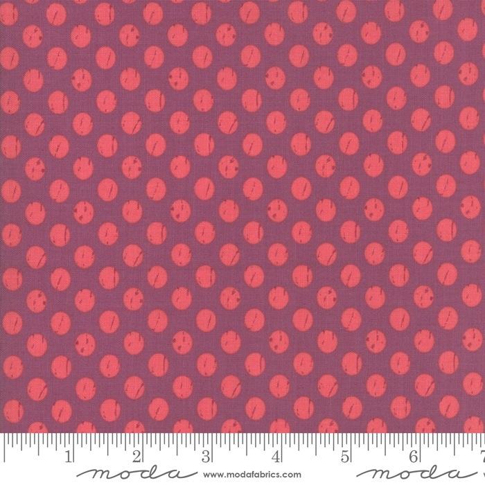 $27.00/m - Lollipop Garden by Lella Boutique for Moda Fabrics - 5085-14 - Whitewashed Dots in Orchid/Purple