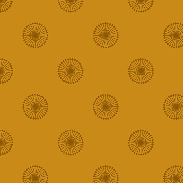 $27.00/m - Quantum by Giucy Giuce for Andover Fabrics - A8961Y - Chromosome in Sienna/Yellow