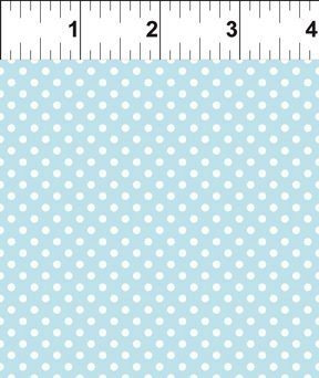 $27.00/m - Teddy's Great Adventures by In The Beginning Fabrics - 9TGA-1 - White Spots in Pale Blue