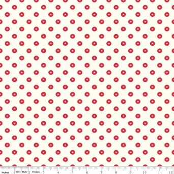 $28.00/m - ugarhouse Park by Amy Smart for Riley Blake Designs - C8897 - Dot in Red