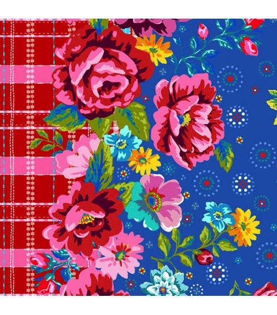 $29.00/m - Confettis by Odile Bailloeul for Free Spirit Fabrics - OB010 - Picnic in Blue