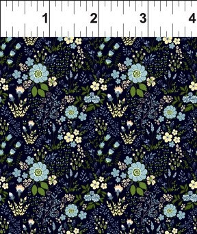 $29.00/m - Garden Delights 3 by Gray Sky Studio for In the Beginning Fabrics - 6GSG-2 - Floral Medley in Blue