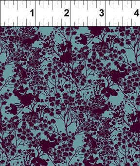 $29.00/m - Garden Delights 3 by Gray Sky Studio for In the Beginning Fabrics - 7GSG-5 - Tonal Floral in Plum