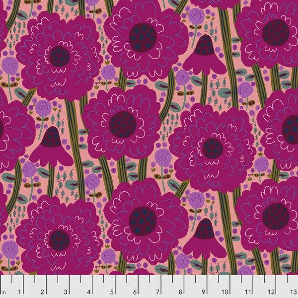 $29.00/m - Savernake Road by Monika Forsberg for Free Spirit Fabrics - MF002 - Estelle in Magenta