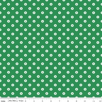 $29.00/m - Sugarhouse Park by Amy Smart for Riley Blake Designs - C8897 - Dot in Green