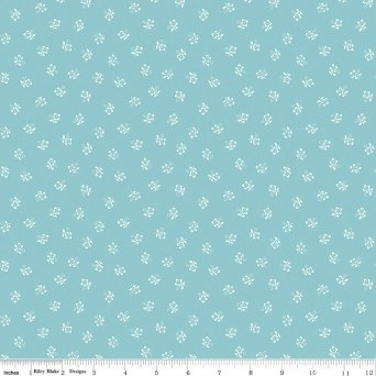 $29.00/m - Sugarhouse Park by Amy Smart for Riley Blake Designs - C8993 - Posey in Aqua