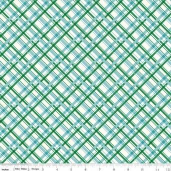 $29.00/m - Sugarhouse Park by Amy Smart for Riley Blake Designs - C8996 - Plaid in Aqua