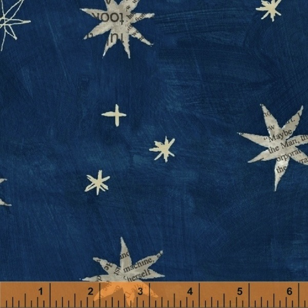 $29.00/m - Wonder by Carrie Bloomston for Windham Fabrics - 50517-2 - Stars in Navy