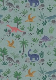 $30.00/m -Kimmeridge Bay by Lewis & Irene - A303.3 - Land Dinos in Gray Green