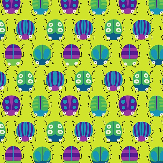 $31.00/m - Buzzin Around by Kim Schaefer for Andover Fabrics - A-9383-G - Lazin Around in Green