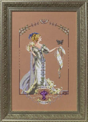 $32.90 - Lady Mirabilia by Nora Corbett for Mirabilia Designs - 25th Anniversary Pattern w/exclusive Butterfly Charm