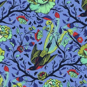 All Stars by Tula Pink for Free Spirit Fabrics - PWTP116 - Feathers in Lupine/Blue