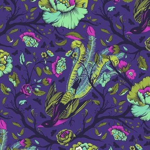 All Stars by Tula Pink for Free Spirit Fabrics - PWTP116 - Tail Feathers in Iris/Purple,