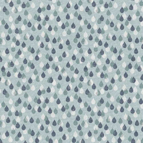Birdsong by Joanne Cocker for Dashwood Studio - Bird 1231 - Raindrops in Teal