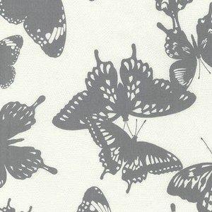 Black & White Collection by Jennifer Sampou for Robert Kaufman Fabrics - AJS-15019-304 Butterfly in Shadow