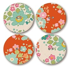 Bumblebee Buttons 28mm by Tone Finnanger for Tilda Quilt Collections - 4 per Pack