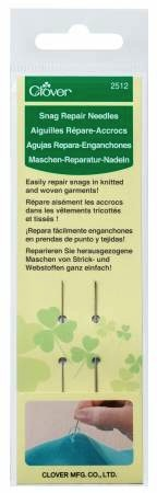 Clover Snag Repair Needles - 2/pk