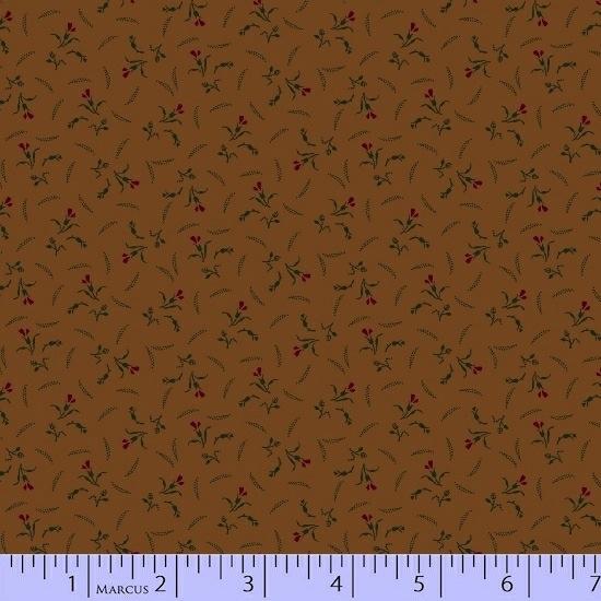 Conestoga Crossing by Pam Buda for Marcus Fabrics - 5548-0113 - Calla Lily in Ochre