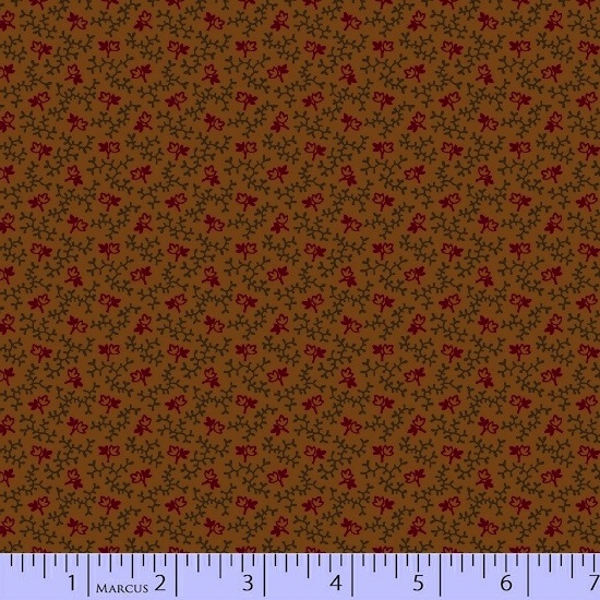 Conestoga Crossing by Pam Buda for Marcus Fabrics - 5556-0113 - Leaves & Vines in Ochre