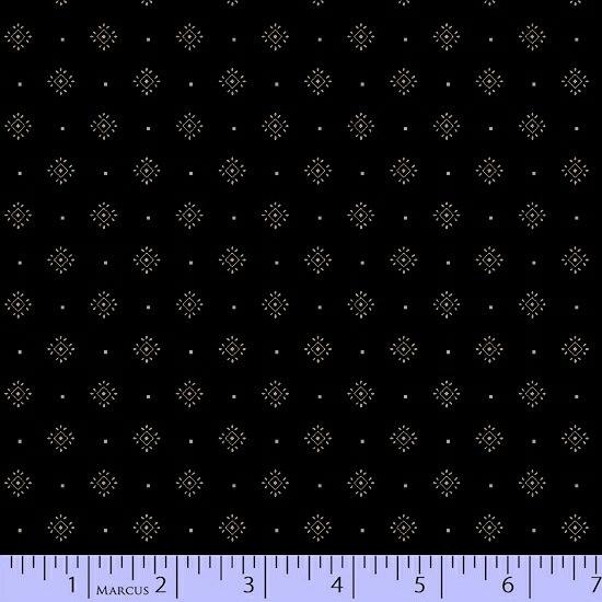Conestoga Crossing by Pam Buda for Marcus Fabrics - 5557-0112 - Medallion Dot in Black