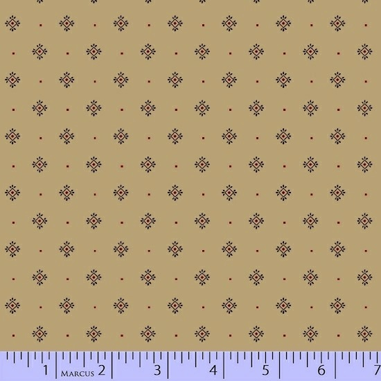 Conestoga Crossing by Pam Buda for Marcus Fabrics - 5557-0113 - Medallion Dot in Cream