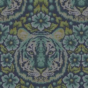 Eden by Tula Pink for Free Spirit Fabrics - Crouching Tiger in Sapphire - TP077