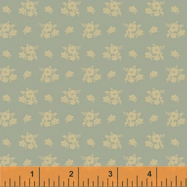 Elm Cottage by L'Atelier Perdu for Windham Fabrics - 42180-1 - Floral Cluster in Blue