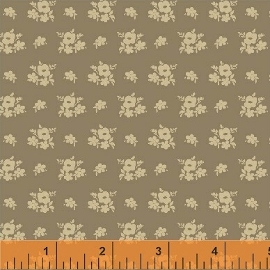 Elm Cottage by L'Atelier Perdu for Windham Fabrics - 42180-3 - Floral Cluster in Brown