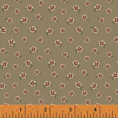 Elm Cottage by L'Atelier Perdu for Windham Fabrics - 42182-3 - Mini Floral in Brown