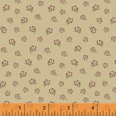 Elm Cottage by L'Atelier Perdu for Windham Fabrics - 42182-4 - Mini Floral in Tan