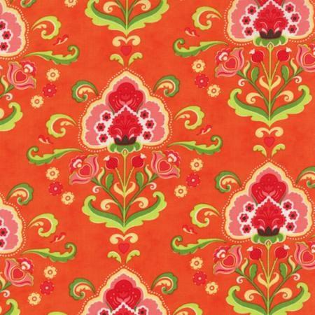 Fancy by Lily Ashbury for Moda Fabrics - Katie Orange Spice 11490-19