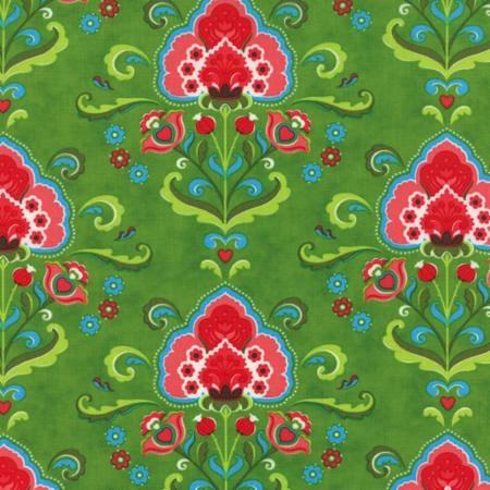Fancy by Lily Ashbury for Moda Fabrics - Katie Warm Sage 11490-15