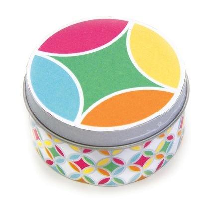 Fashion Tin #11 - 2in  Circle Tin Multi with Quilt Blocks from Moda Classics