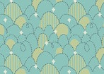 Feather n Stitch by Sarah Watts for Blend 110.101.04.1 Stitched Eggs Turquoise